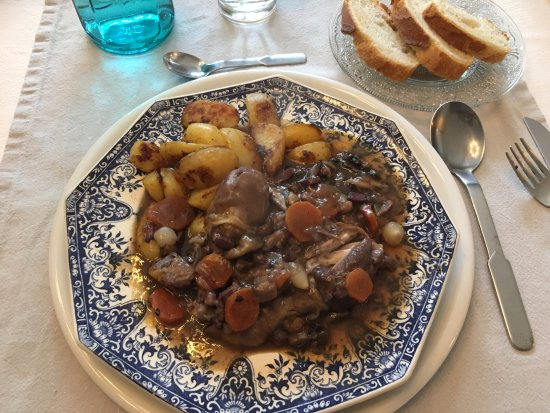 Le Chateau de Viviez: wonderful coq au vin!