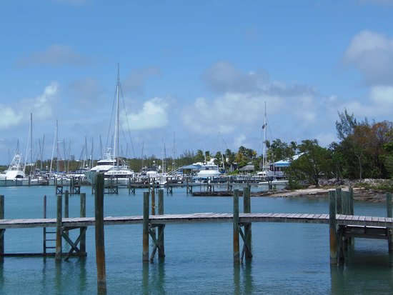 Marsh Harbour, Great Abaco Island: View from Colors By The Sea