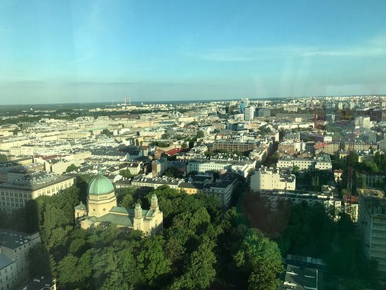 View of Warsaw from the 27th floor