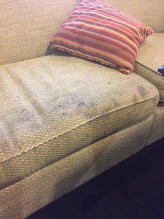 Hampton Inn & Suites Atlantic Beach: in breakfast/common area -all furniture stained