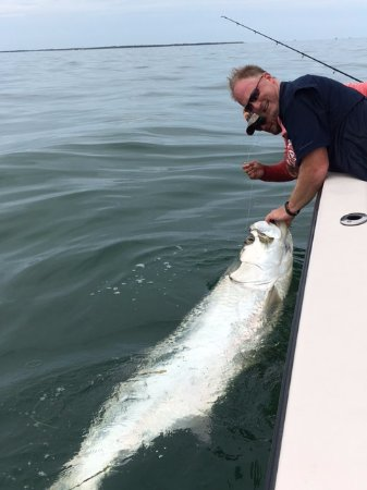 Boca Grande, FL: Capt Chris and I with my tarpon