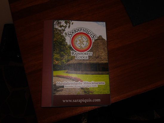 Sarapiquis Rainforest Lodge: the menu