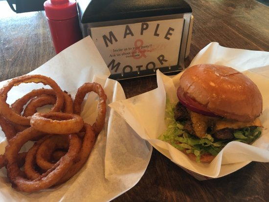 Onion Rings Cheeseburger Picture Of Maple And Motor
