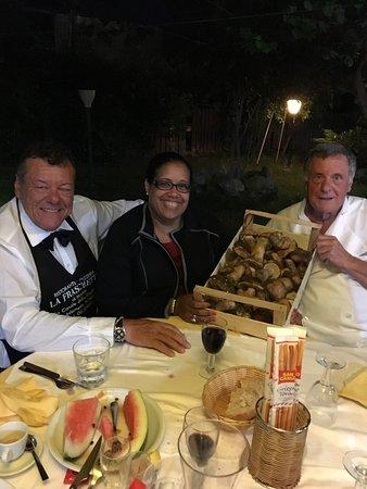 La Fraschetta di Matteo: Carissimi Mario e Tullio, la cena eccezionale! L'indalara dì porcini semplicemente Divina!!!! A