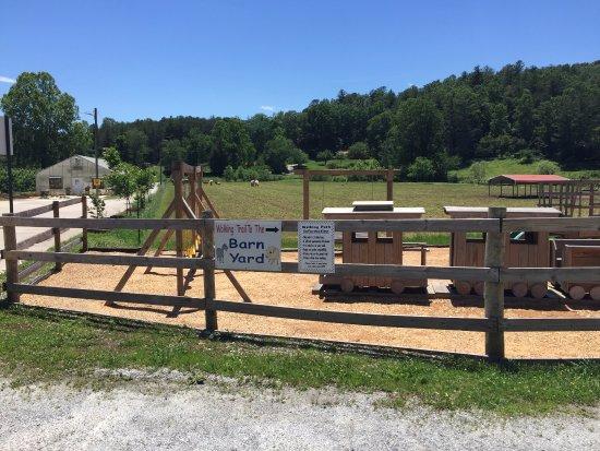 Lakemont, GA: Hillside Barn Yard