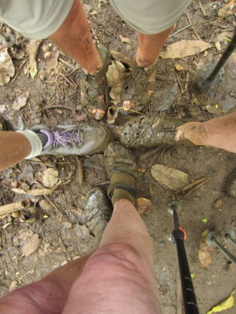 Kayak Adventures : Our feet at the end of the trail