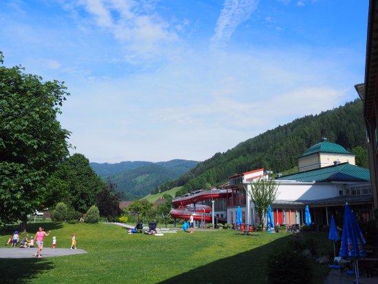 Veitsch, Autriche : Ausblick vom Seminarraum hinter dem Restaurant