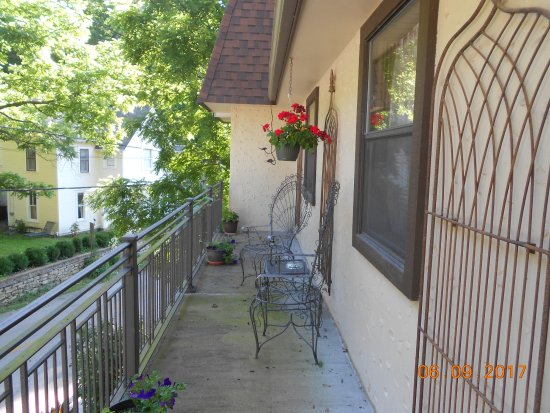 The Benton Place Inn: the porch just outside your door at The Benton Suite