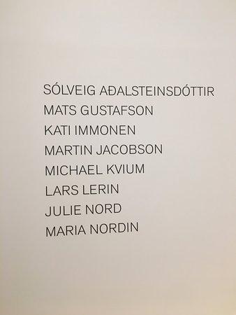 Vastra Gotaland County, Sweden: expo permanente : artistes présents