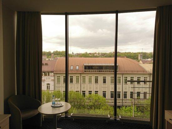Kaunas Hotel: Окно в номере, 5 этаж