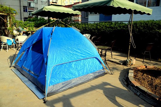 Chengde, China: 双人帐篷