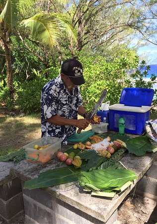 Eco Tour with Birdman George: George preparing lunch.