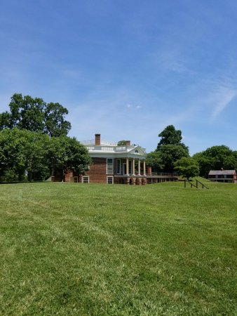 The back portico of Poplar Forest