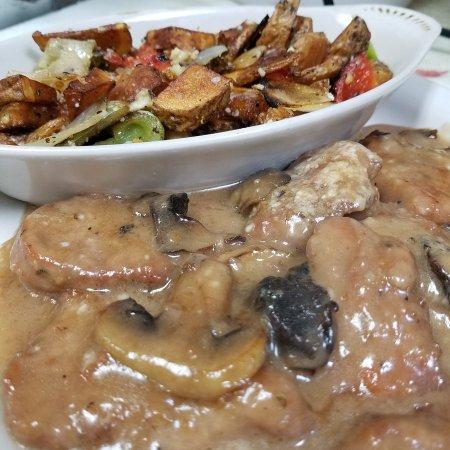 Scranton, PA: Pork tenderloin marsala with calabrese potatos