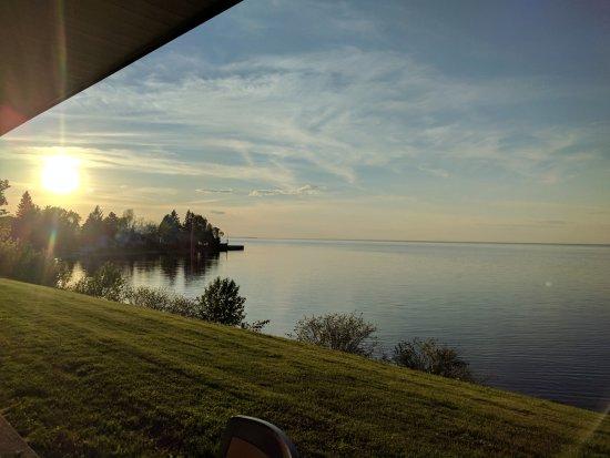 Chambord, Canada: Ausblick vor dem Zimmer