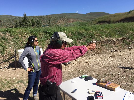 Sun Valley, ID: Our expert instructor Nate showing us the ins and outs of the 1911