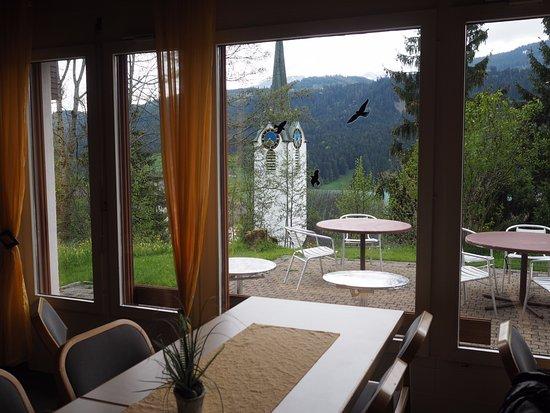 Wildhaus, İsviçre: Blick aus dem Aufenthaltsraum