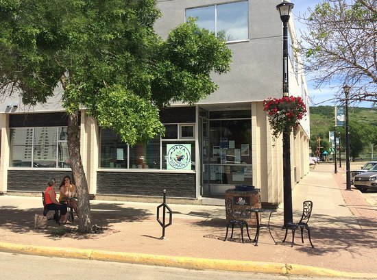 Java Domain is a popular, artsy cafe at the end of Main Street in downtown Peace River.
