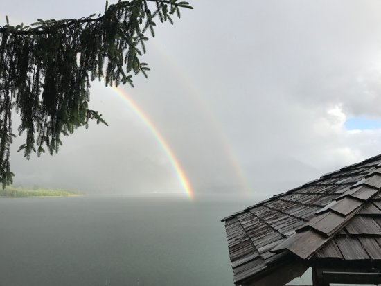 Amanda Park, WA: double rainbow over lake