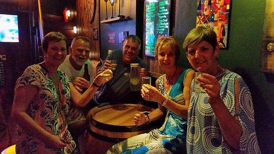 La Dolce Vita Hotel: Having drinks in beer street