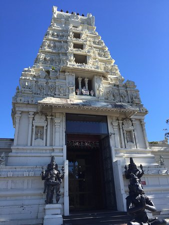 Sri Venkateswara Temple: The main entrance of the temple, you are required to take your shoes off to enter