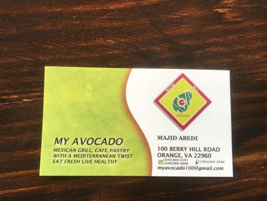 Orange, VA: Business card