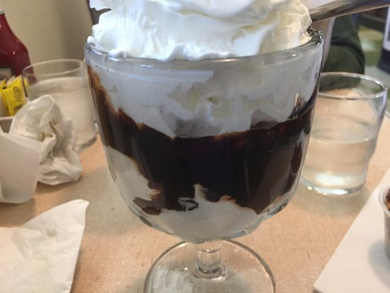 Crown Candy Kitchen: Hot Fudge Sundae with Whipped Topping