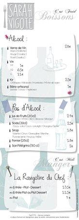 Decazeville, فرنسا: Carte Du restaurant