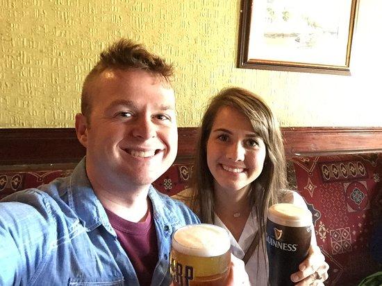 Traditional Irish Musical Pub Crawl: Jordan and I at the first stop on the Traditional Irish Pub Crawl!