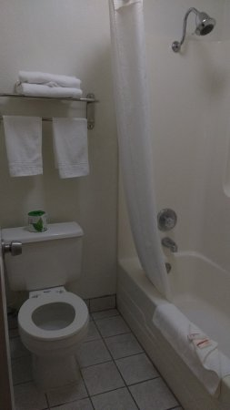 Super 8 Corning: Bathroom was adequate
