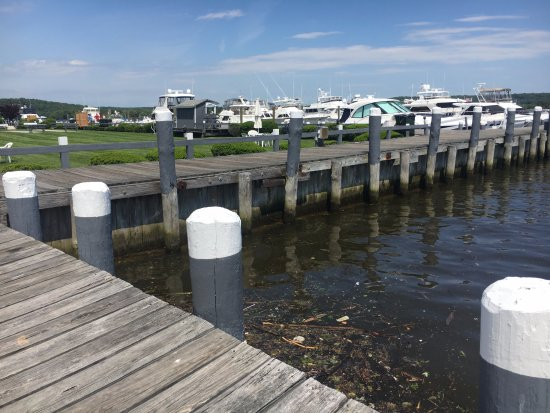 Essex, CT: The marina on the island