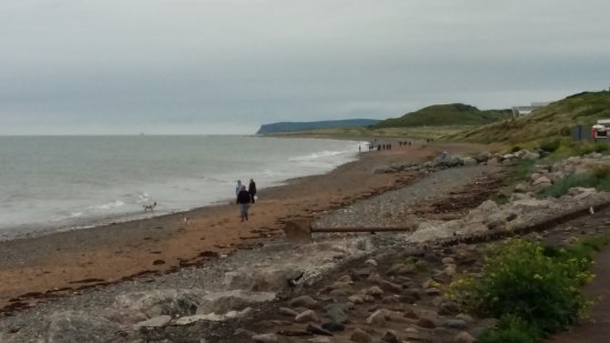 Seascale, UK: View North Towards St Bees With Walkers