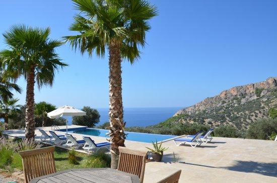 Gelemis, Türkei: pool with sea vieuw