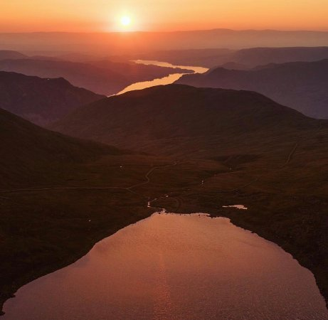 Watermillock, UK: Ullswater sunrise from Helvellyn