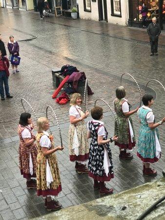 Watermillock, UK: Morris Dancers in the rain. Keswick