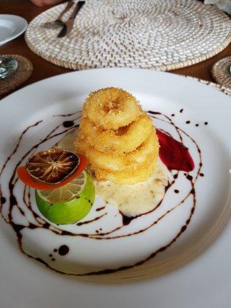 Siladen Island, อินโดนีเซีย: Gamberi fritti