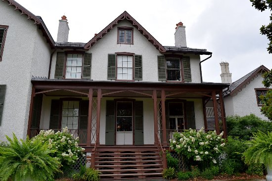 President Lincoln's Cottage: The back of the cottage showing the porch