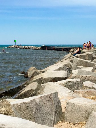 New Buffalo Public Beach Breakwater