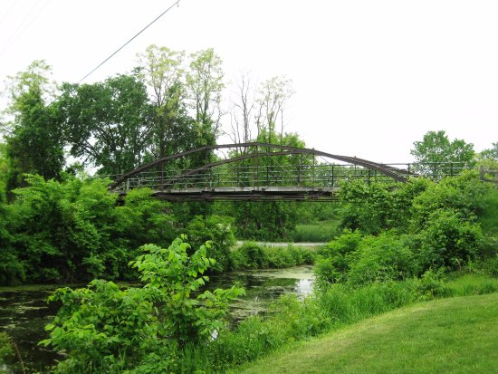 Clifton Park, NY: Entrance bridge (which has a long history that you can read about when you're there)