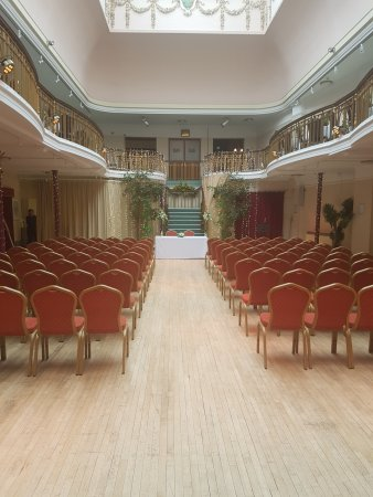 King's Hall and Winter Garden: kings hall set up for a wedding