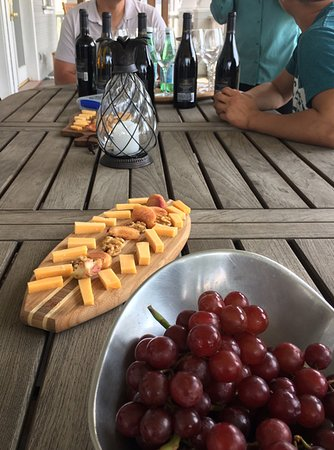 Seal Beach, CA: Wine & Cheese on the porch of a Mansion
