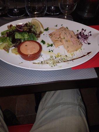 Montagny, France: entrée du menu