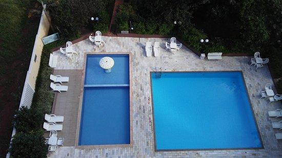 San Juan Tour: Vista do quarto - fundos do hotel