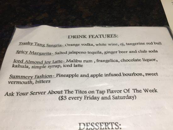 Williamsport, PA: feature drinks