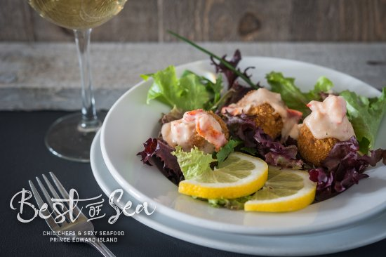 Chez Yvonne's : Try our Best of the Sea Menu Appetizer Lobster Croquettes
