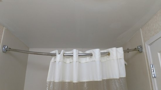 Shower Curtain Rod Sagging Because Rod Loosening From Wall