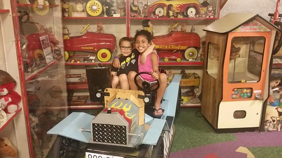 Branson, MO: One of many old coin operated rides for kids to sit on for pictures.