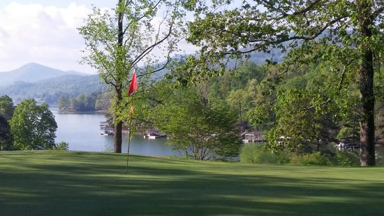 Hayesville, NC: Chatuge Lake taken at Chatuge Shore Golf Course just west of Chatuge Dam