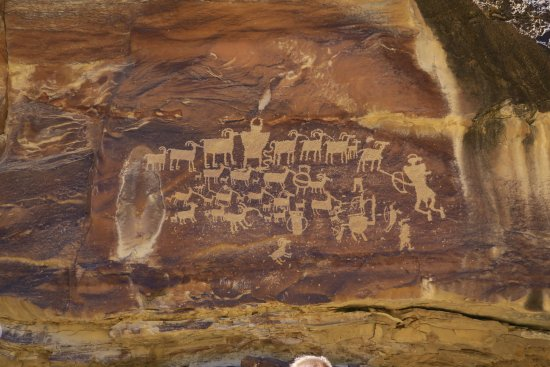 Wellington, UT: Just one of thousands of Native art rock panels you'll see in the Canyon.
