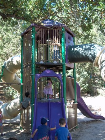 Hanging Bridge at Nesher Park: Nice play things